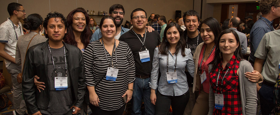 Members of the Latin American Training Program pose for a photo at Neuroscience 2016