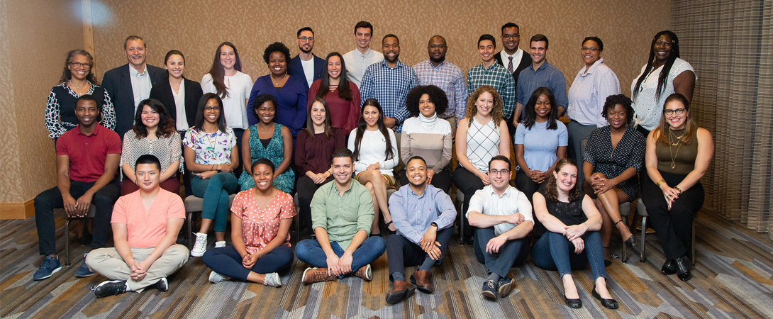 Neuroscience Scholars Program Fellows and PIs pose for a photo in San Diego.