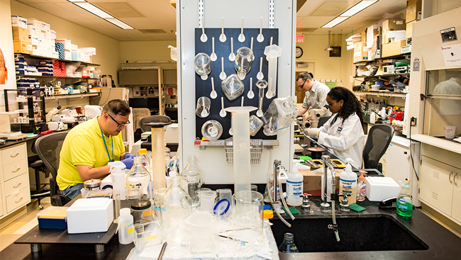 Photo of scientists in a lab